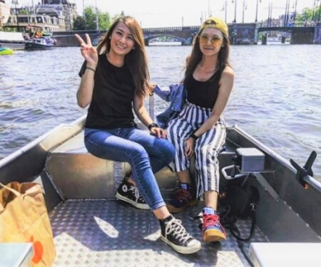 Amstel river boating Amsterdam