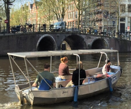 Private canal boat rental Amsterdam