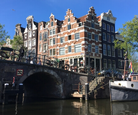 Boating routes Amsterdam canal tour