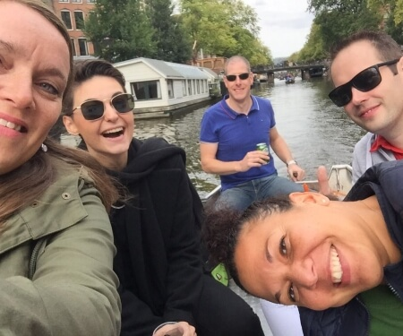 Corporate event boat tour Amsterdam