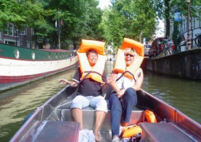 Funniest boat tour Amsterdam life vests