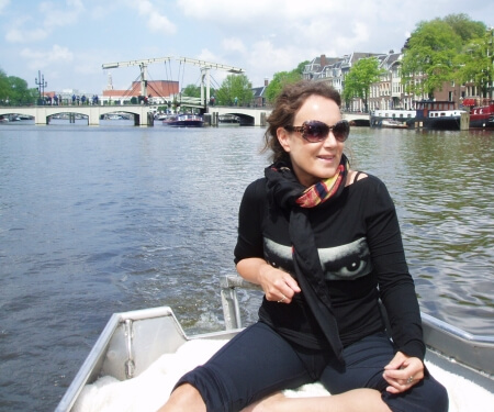 Amsterdam canal Amstel river boating route