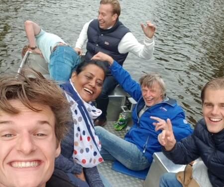 Company event Amsterdam canal tour