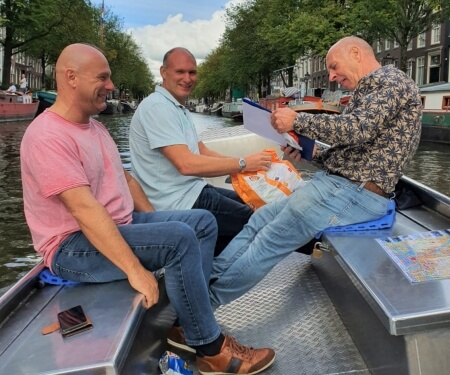 Company event staff outing Amsterdam boat tour