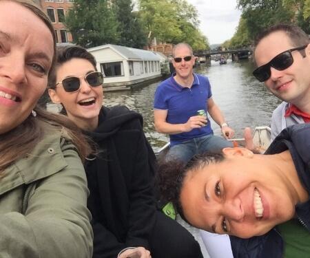 Corporate event boat tour Amsterdam