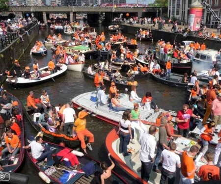 Kingsday boat rental Amsterdam