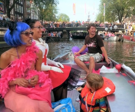 Rent a Boat Amsterdam Kingsday Gay Pride