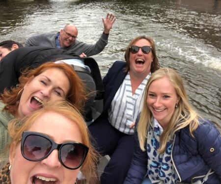 Team outing Amsterdam boat tour quiz