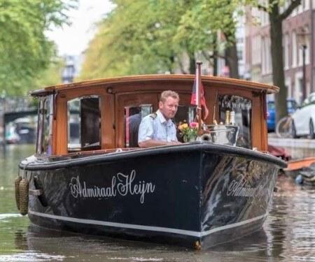 E-boats private Amsterdam canal tour