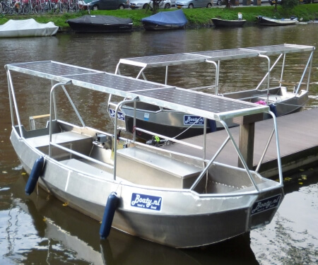 Rent covered boat Amsterdam