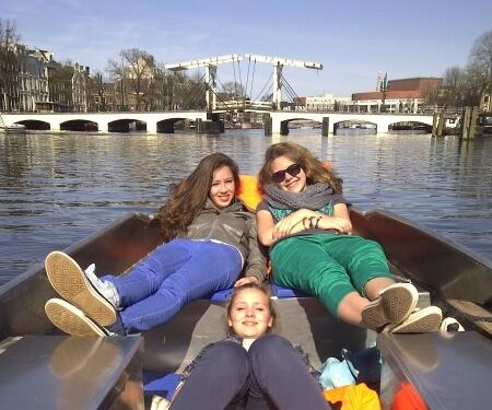 Skinny Bridge Amsterdam by boat