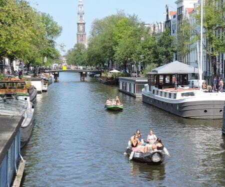 Prinsengracht Westerkerk Amsterdam canal