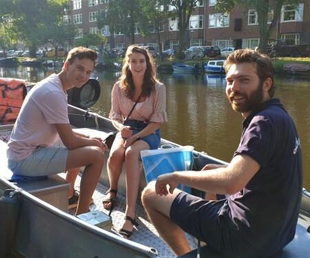 Canal boat rental Amsterdam