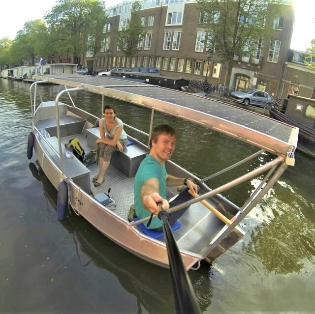 Rent a boat with roof Amsterdam
